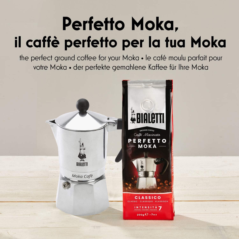 Bialetti Break Caffettiera in Alluminio 3 Tazze Manico Nero